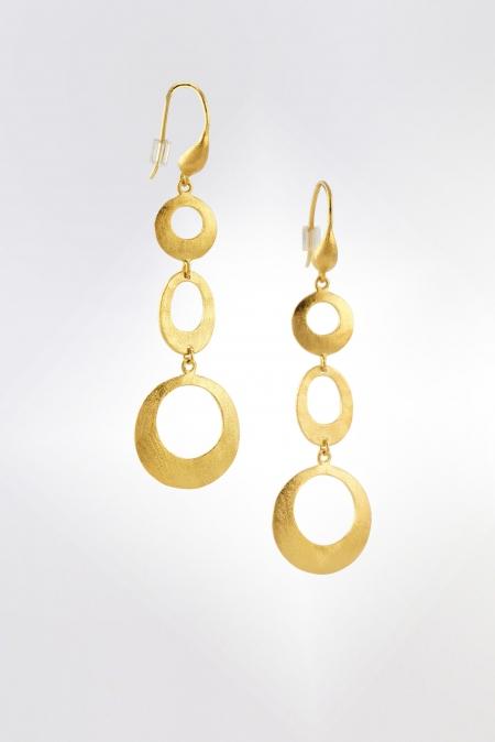 Ohrringe Ohrhänger Rosalie gelbvergoldet