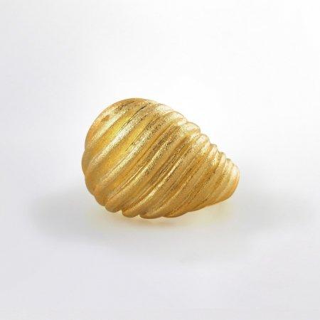 Claris Schmuckdesign Ring Groovey gelbvergoldet