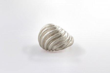 Claris Schmuckdesign Ring Groovey rhodiniert
