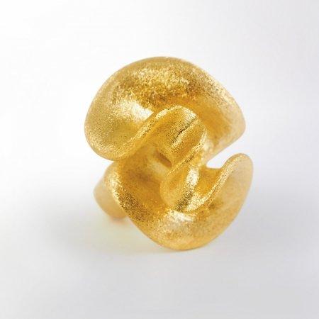 Modeschmuck Ring Rosa Damascena gelbvergoldet