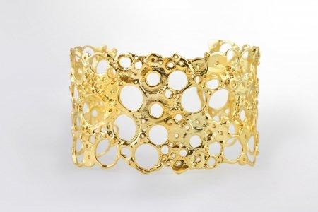 Modeschmuck online Armspange Santal gelbvergoldet