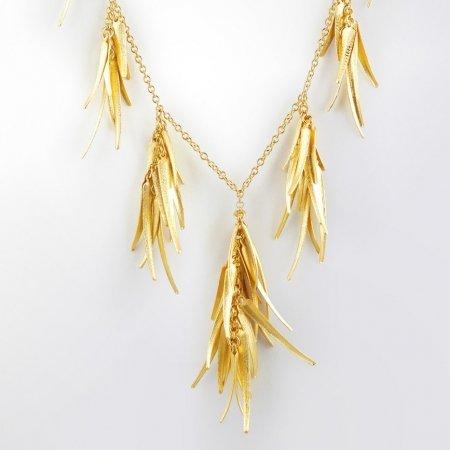 Claris Schmuckdesign Collier Saragossa gelbvergoldet -