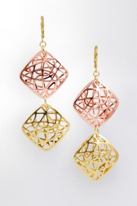 Claris-Schmuckdesign-Ohrhänger-Damasco-gelbvergoldet-rosevergoldet-