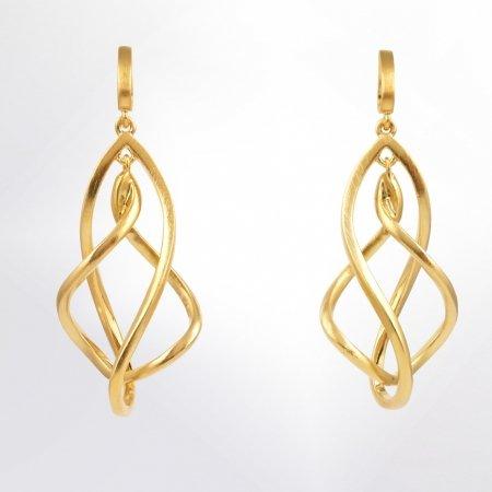 Claris Schmuckdesign Ohrstecker Spirale gelbvergoldet
