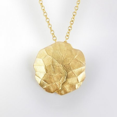 Claris Schmuckdesign Anhänger Philodendron gelbvergoldet -