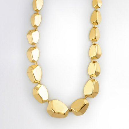 Claris Schmuckdesign Collier Golden Nuggets gelbvergoldet -