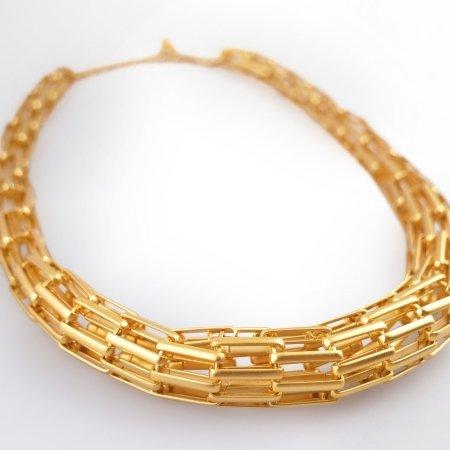 Claris Schmuckdesign Collier Labyrinth gelbvergoldet -