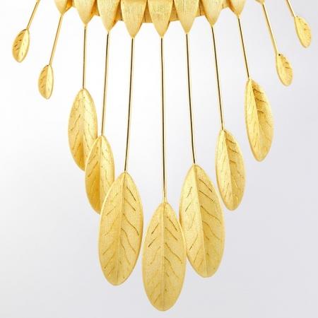 Claris Schmuckdesign Collier Phoenix gelbvergoldet