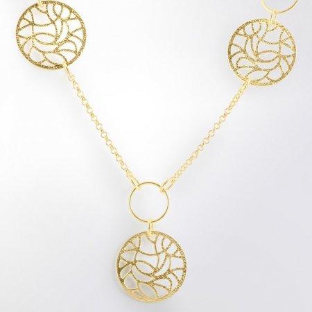 Claris Schmuckdesign Collier Zahra gelbvergoldet -
