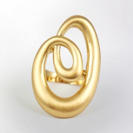 Claris Schmuckdesign Ring Lumaca gelbvergoldet