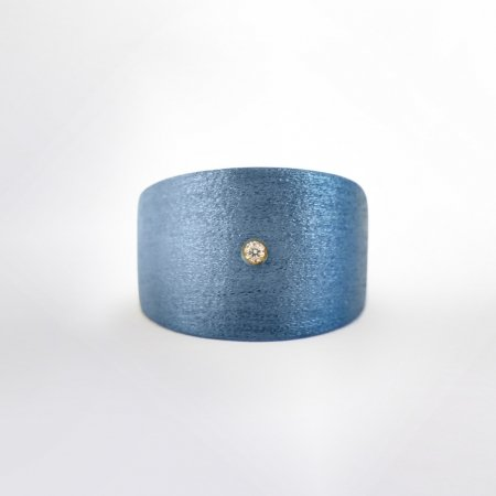 Claris Schmuckdesign Ring con Pietra blau