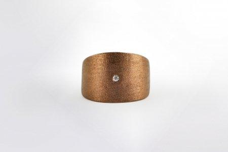 Claris Schmuckdesign Ring con Pietra braun
