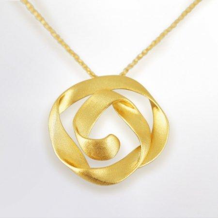 Claris Schmuckdesign Anhänger Criolla gelbvergoldet