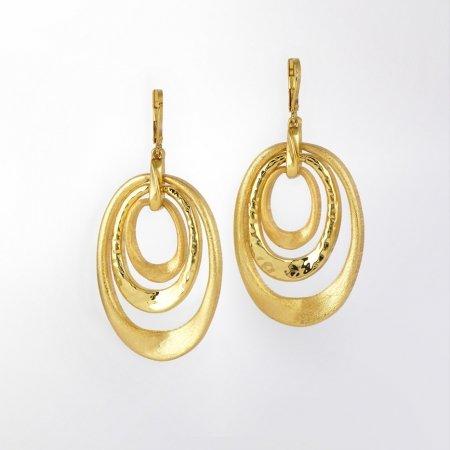 Claris Schmuckdesign Ohrhänger Olivia gelbvergoldet