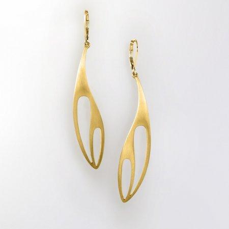 Claris Schmuckdesign Ohrhänger Salvia gelbvergoldet