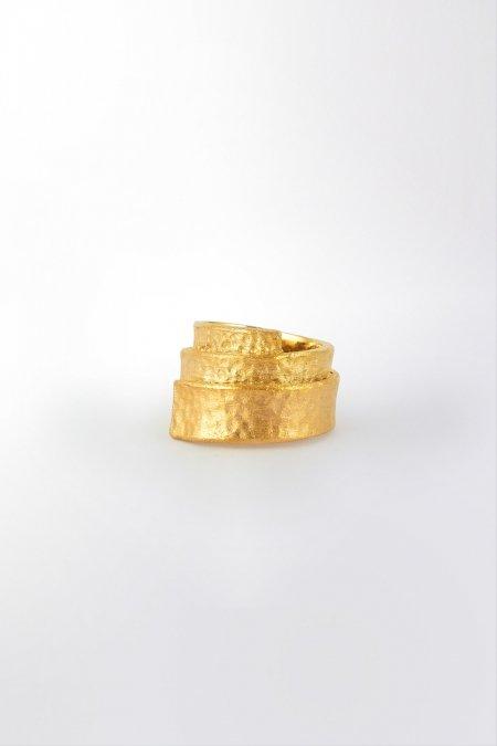 Claris Schmuckdesign Ring Babel gelbvergoldet